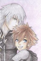Riku and Sora by Dahlia-Ruin
