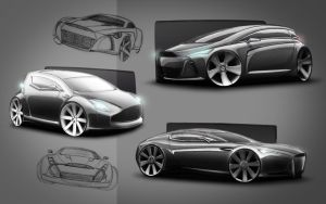 aston martin design sketch by spoon334