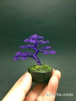 Purple wire bonsai tree by Ken To by KenToArt