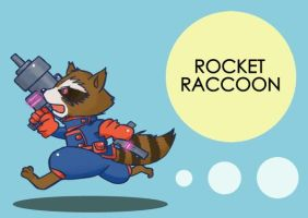 Run!: Rocket Raccoon by kaiko6