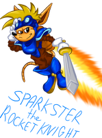March of the Mascots: Sparkster the Rocket Knight by Code-E