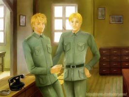 Commission:Fritz and Diedrich by starca