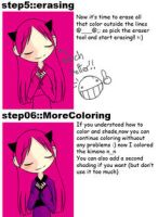 Coloring tutorial - 4PS by kuri-chann