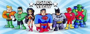 Justice League line-up by AngelCrusher
