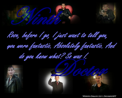 Ninth Doctor Wallpaper: The Sass Lives On! by Winters-Dawn1221