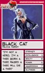 Trading Card - Black Cat by jessiesheram