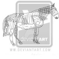 Sweets horse lineart by Horsissa
