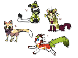 Small OC Adoptables Pack 2 by The-F0X