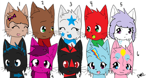 Adoptables set 3 by Manithewolf