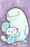 Wooper and Quagsire by agalmatophiliac