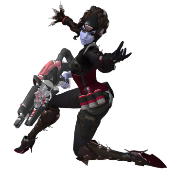 Widowmaker Noire Reloading Pose Pack by PwN3Rship