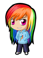 MLP Chibi: Rainbow Dash by ZantyARZ