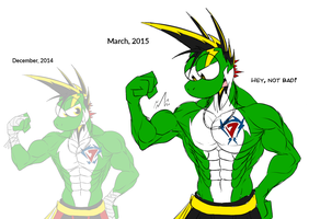 Yetshi's muscles evolution in 3 months by McTaylis