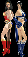 Wonder Woman and Kitana by artemismoonguardian