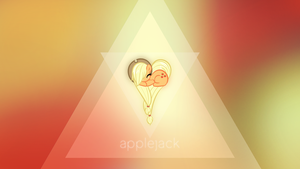 Applejack Triangle Heart by ikonradx