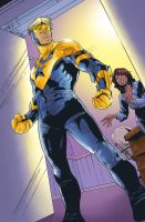 Booster Gold - Blue Beettle 10 by thiagobelas