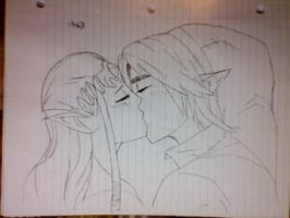 Link + Zelda by creed12777