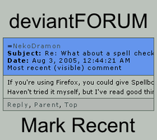 deviantFORUM - Mark Recent by NekoDramon