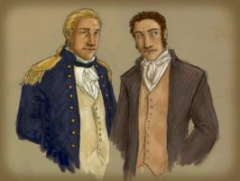 Aubrey and Maturin by katie8787