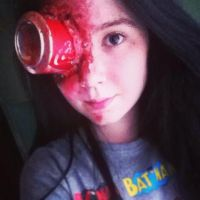 Coke Can Make-up :3 by ChelseaWildesArt