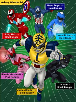 Mighty Morphin Marvel Heroes by AshleyWharfe