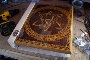 WIP Large Celtic Grimoire by WOODEWYTCH