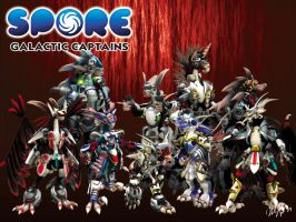 Spore Galactic Captains by cicakkia