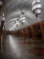 Marksistskaya, Moscow subway station by ChaoticMind75