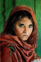 The Afghan Girl by mrs-matsuyama