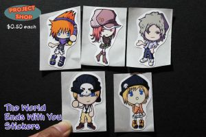 TWEWY Stickers by Saiya-STORY