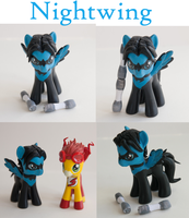 Nightwing MLP G4 Custom Figure/Toy DC comics by alltheApples