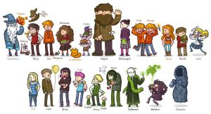 Harry Potter Characters by SaltyMoose