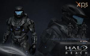 Halo Reach: Noble Six by XNASyndicate