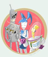 Cartoon Robots by Zimeta
