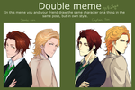 Double meme (Puchitto Hajiketa) with Bambi! by Captain-Toki