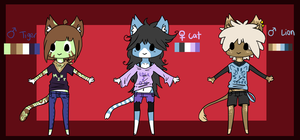 anthro kitty adoptables CLOSED by meteorcrash