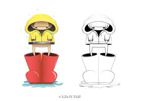 Raincoat and Gumboots by KILLER-LAMB