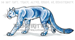 Blue Cougar Commission by WildSpiritWolf