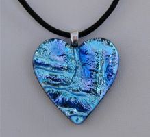 Oceans Heart Fused Glass by FusedElegance