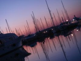 Sunrise By The Sailing Boats by xxfrozenflamesxx