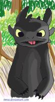 coloured toothless by Imva
