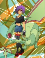 flygon and trainer by Hanaeflower