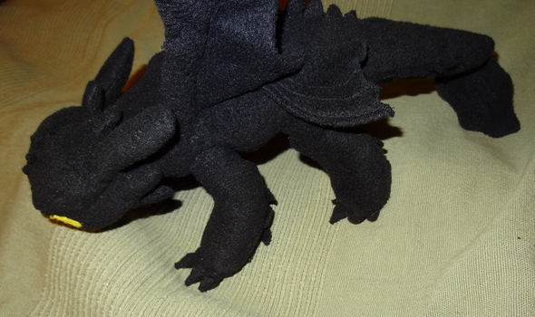 Toothless dragon plushie - Side view by ProjectToothless
