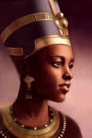 Nefertiti, Queen of Egypt by Aliciane
