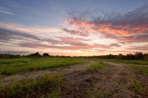 Sunset near the house by khmaria