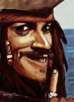 Captain Jack Sparrow by devowankenobi