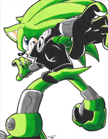 *TIDES OF ARES*:  Scourge the Hedgehog by Armpit-Warrior