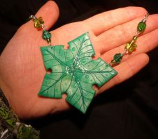 The Treestar - handmade Necklace 2nd by Ganjamira