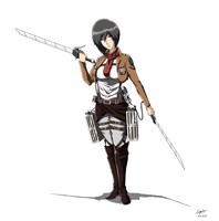 Attack on Titan: Mikasa Ackerman by cyril002