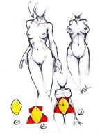 How to easy draw woman shape by YoulDesign
